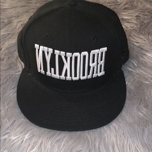 New Era Brooklyn Black fitted hat
